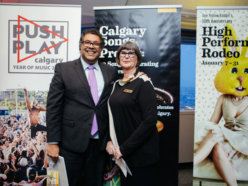 Mayor Naheed Nenshi and Ann Connors launch the 2016 High Performance Rodeo and Calgary's Year of Music