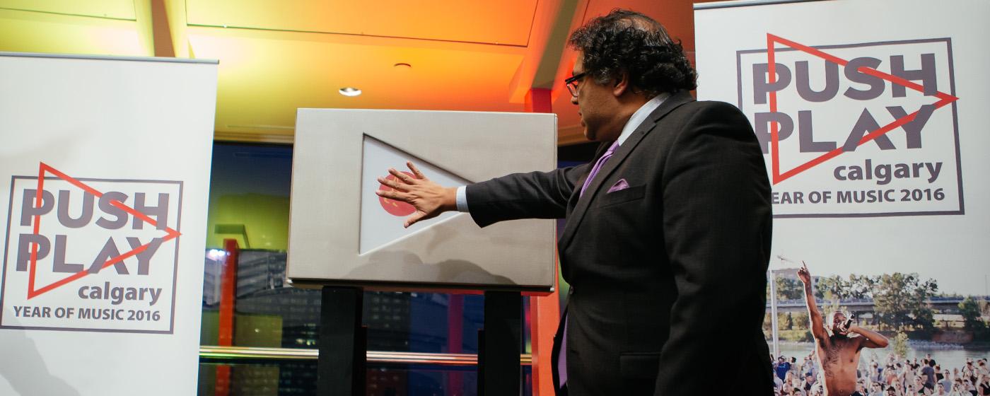 Mayor Naheed Nenshi launches Calgary's Year Of Music