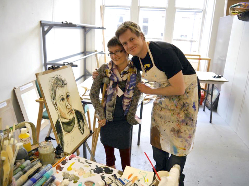 In-Definite Arts participates in the 2015 Disability Art Summit hosted by Project Ability in Glasgow, Scotland with UK-based artist Tanya Raabe | Photo: Project Ability