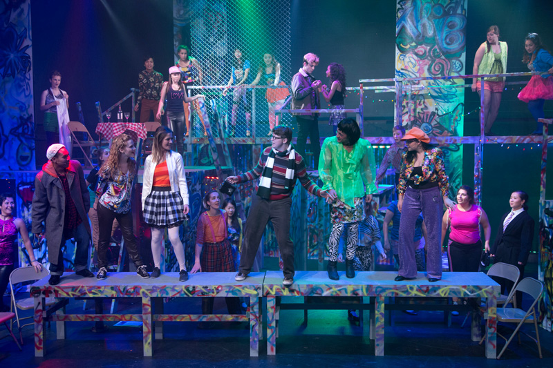 Cast of RENT, performed by StoryBook Theatre's Summer Student Intensive Program |Photo: Benjamin Laird Arts & Photo