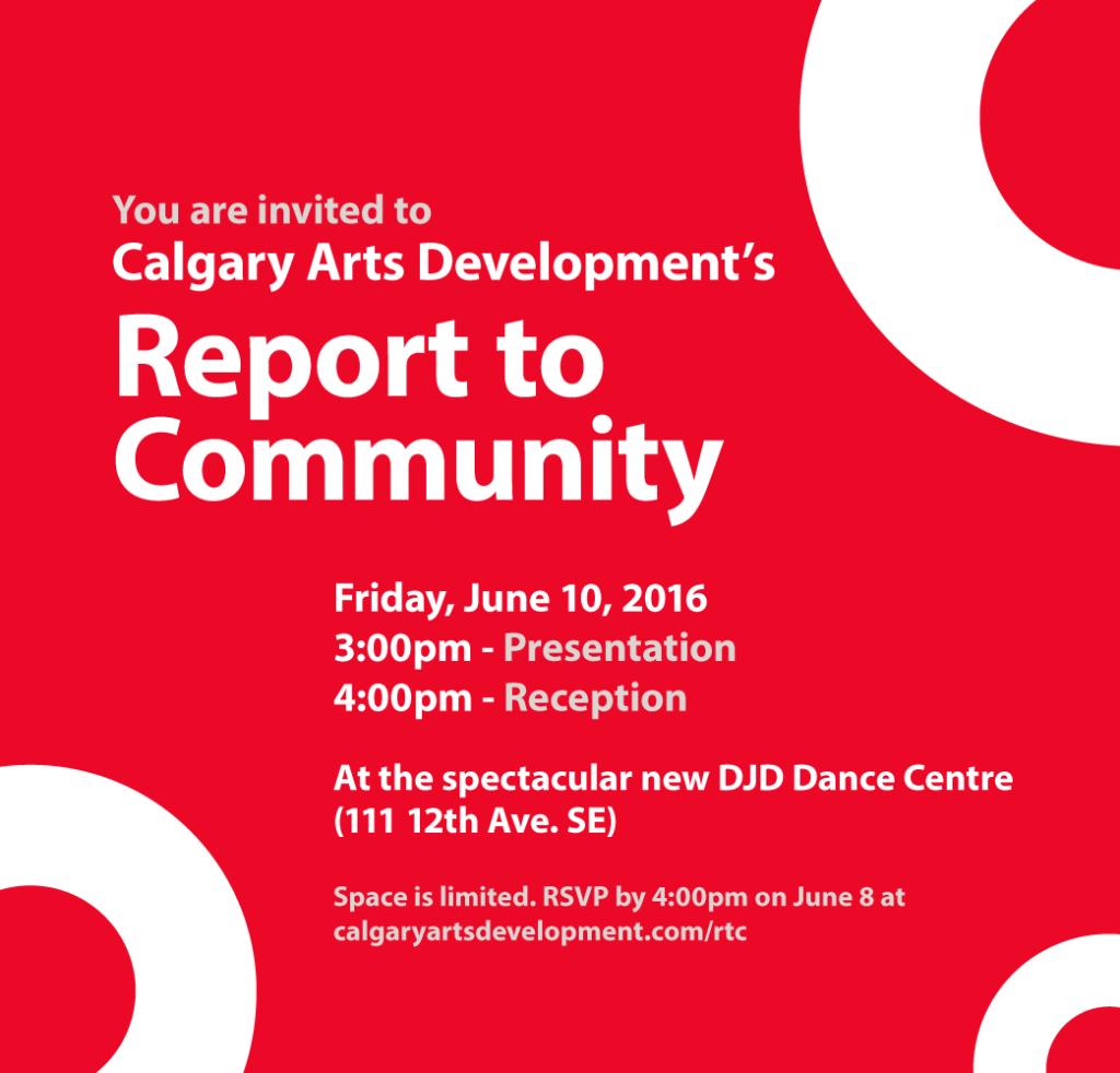 Invite Report to Community 2016