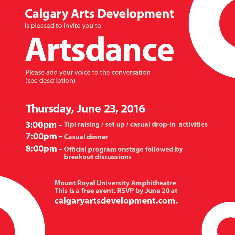 Artsdance Invitation image
