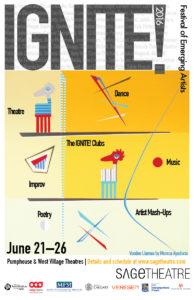 IGNITE! Festival of Emerging Artists Poster