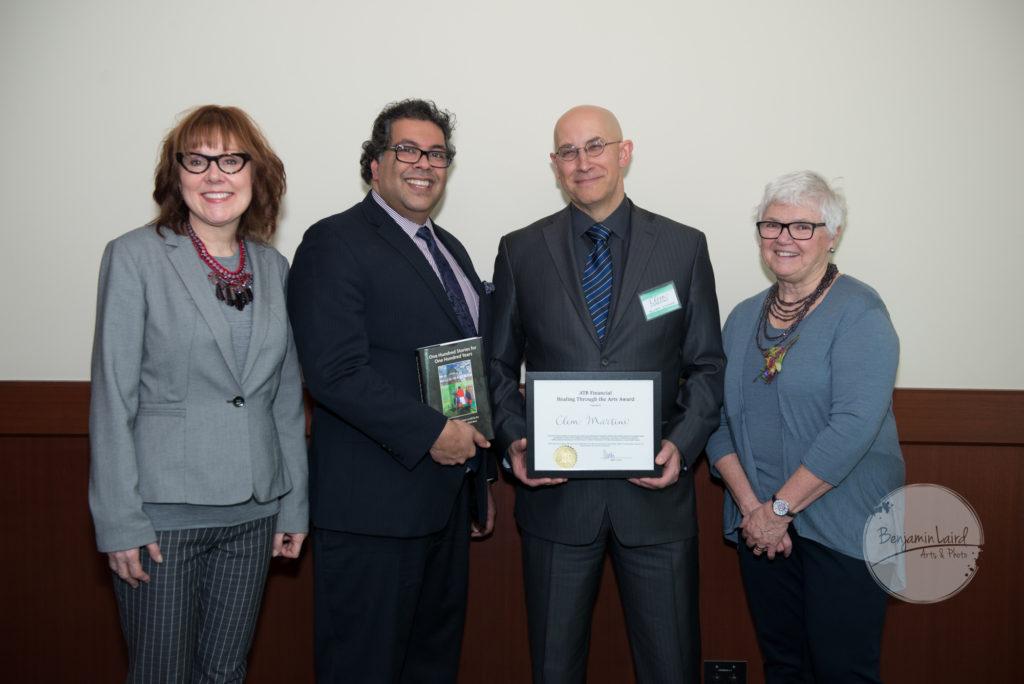 ATB Financial Healing Through the Arts Award Recipient Clem Martini