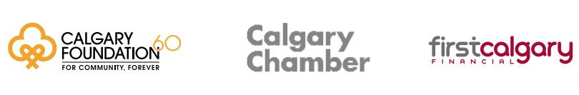 Calgary Foundation, Calgary Chamber, First Calgary Financial logos