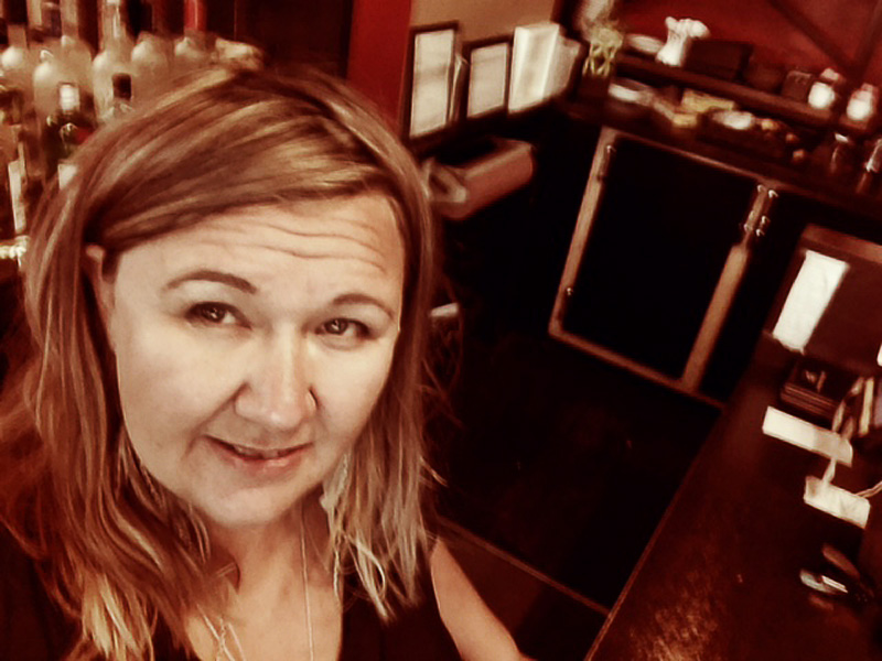 Alanna Martineau behind the Wine-Ohs bar | Photo: Alanna Martineau