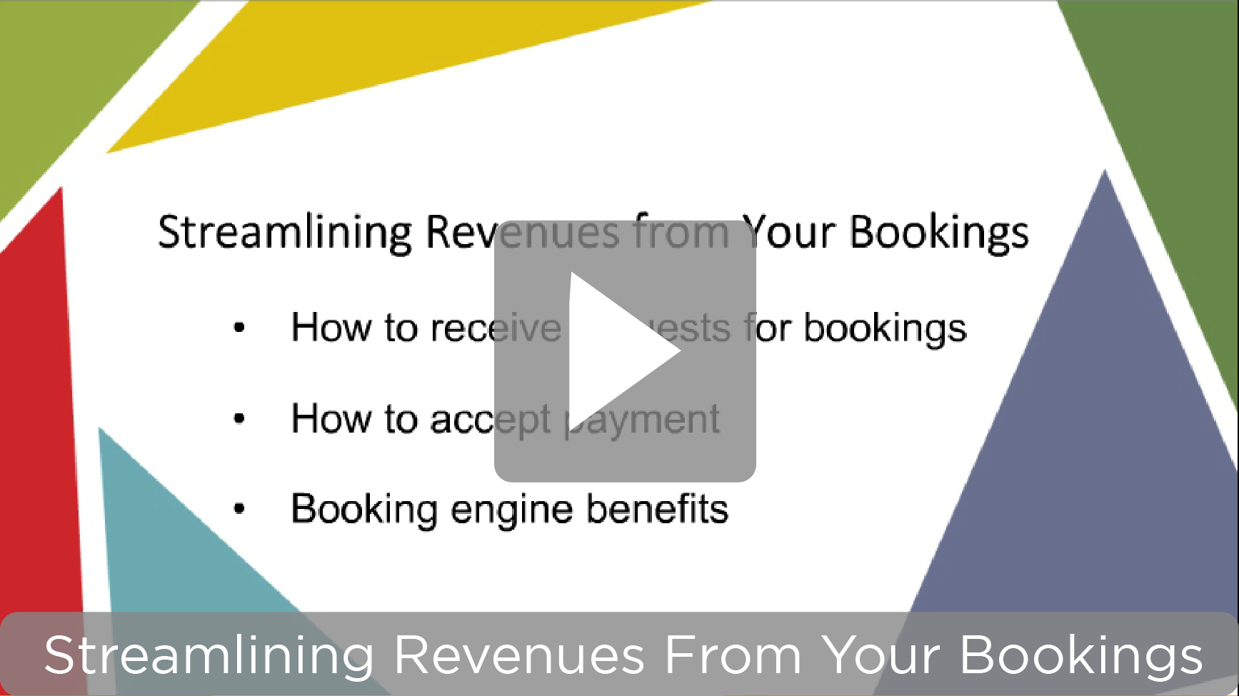 Video link – Streamlining Revenues webinar