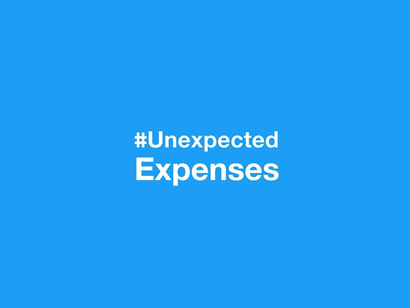 hashtag image – #Unexpected Expenses