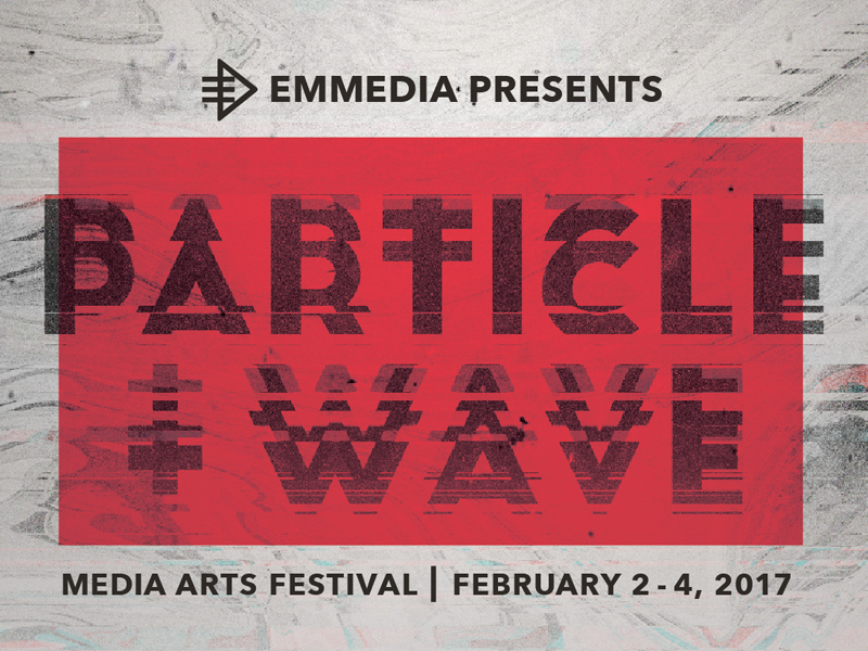 Poster for PARTICLE + WAVE Media Arts Festival