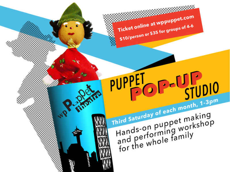 Poster for Puppet Pop-Up Studio