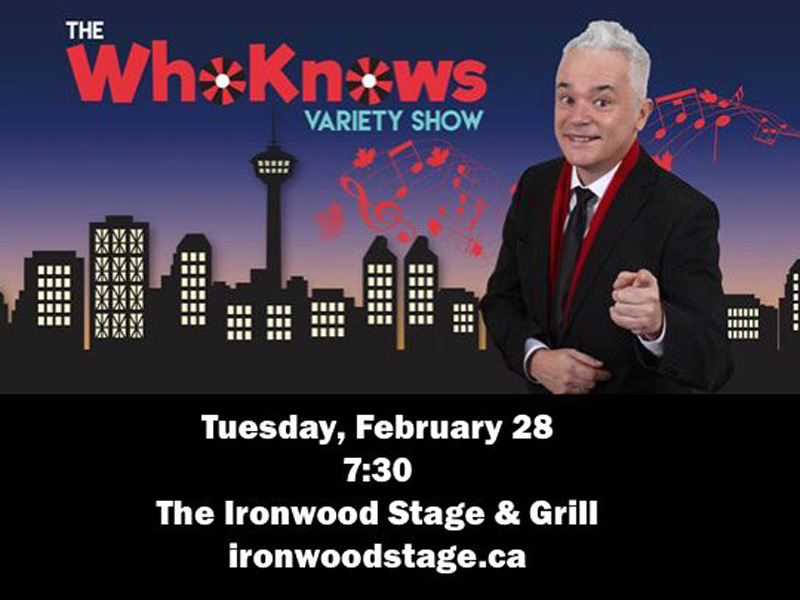 Poster for The WhoKnows Variety Show on February 28
