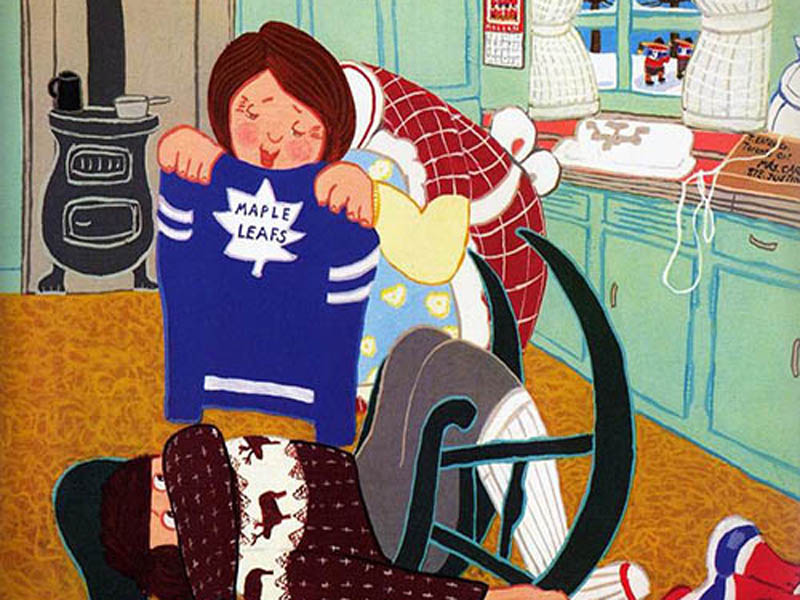 A page from The Hockey Sweater