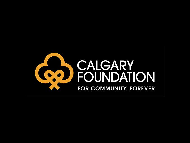 Calgary Foundation logo on black background