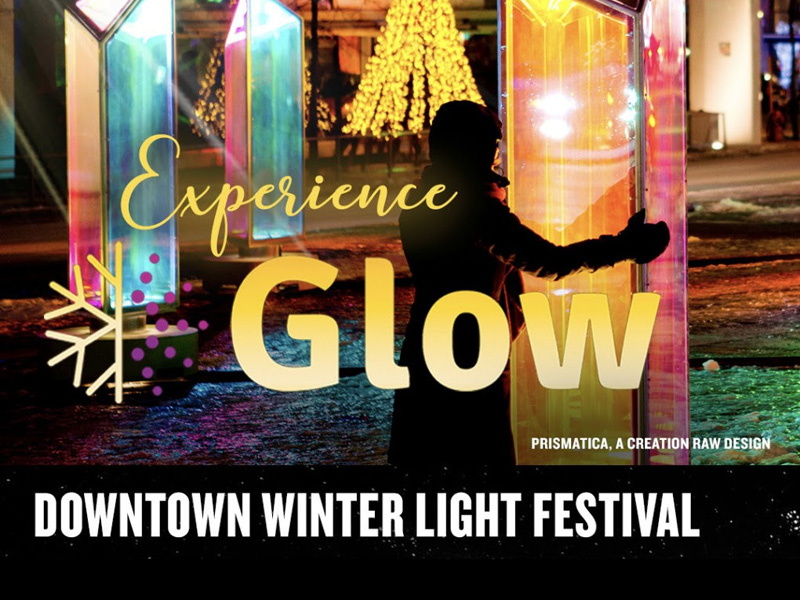 Poster for GLOW – Downtown Winter Light Festival
