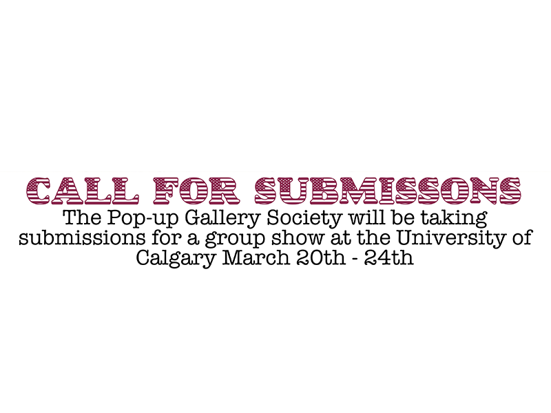 Image - Pop-up Gallery Call for Submissions