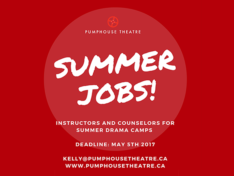 Image - Pumphouse Theatre summer jobs promo