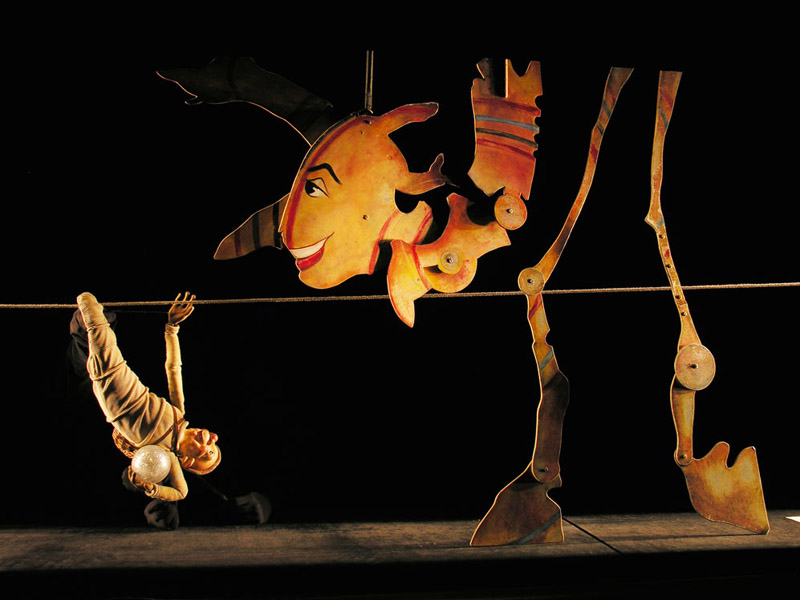 Whimsical puppets tell an imaginative story