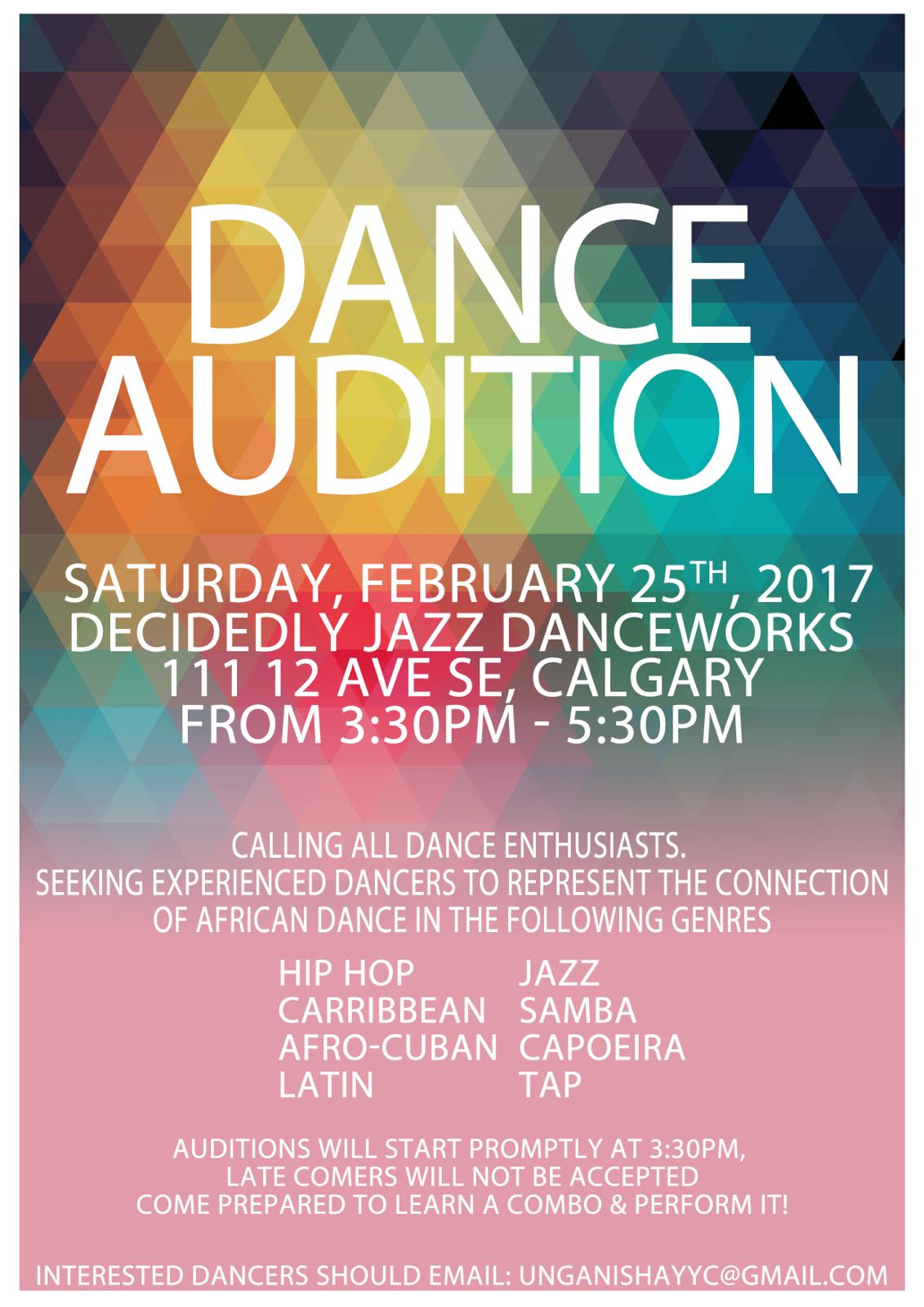 Woezo Dance Auditions Poster JPG