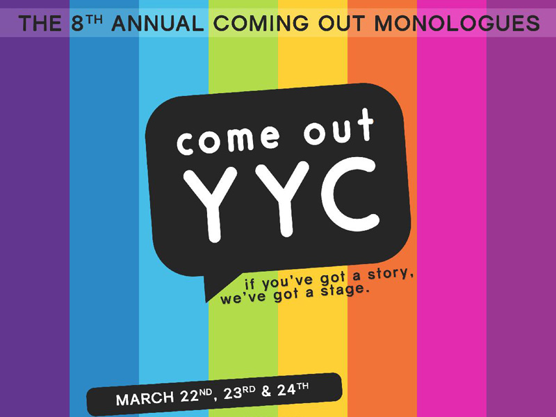 Poster forThe Coming Out Monologues YYC