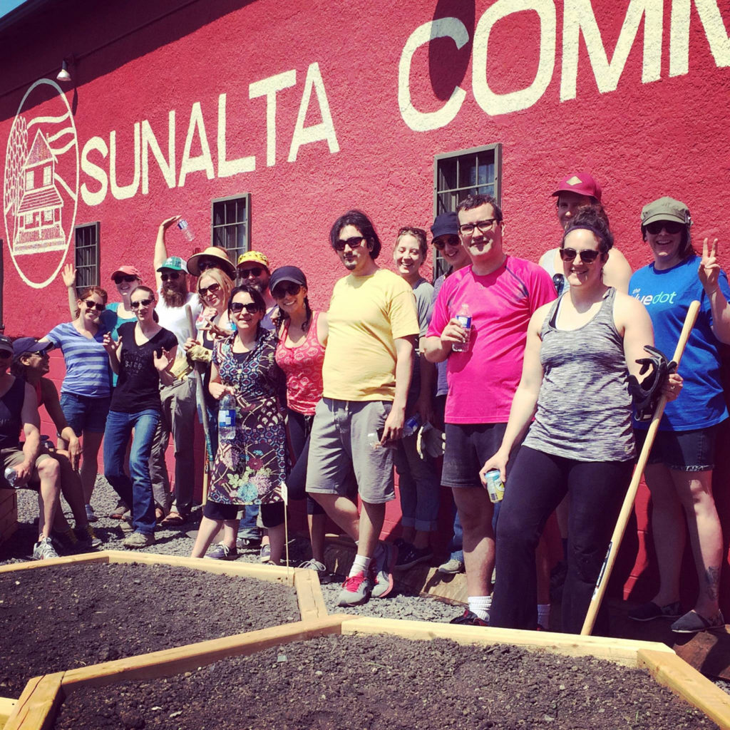 Photo of volunteers working at the Sunalta Community Association