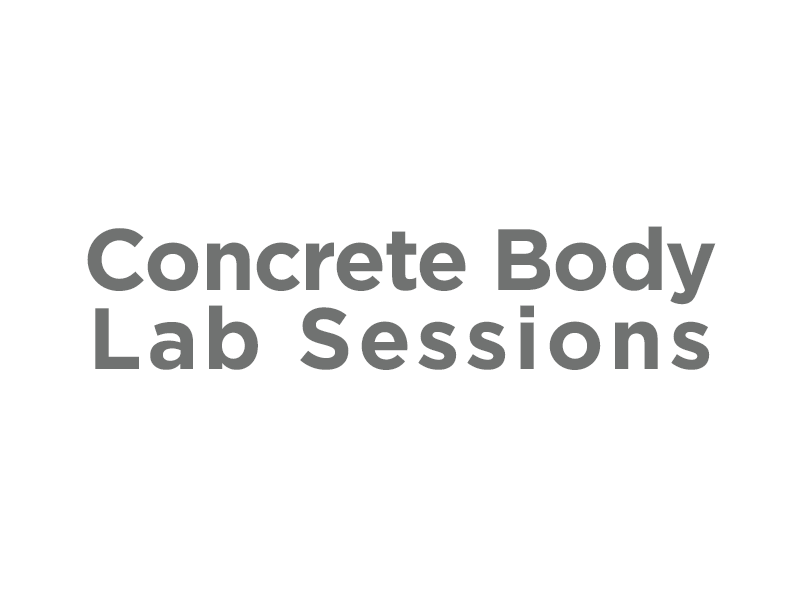 Image text – Concrete Body Lab Sessions