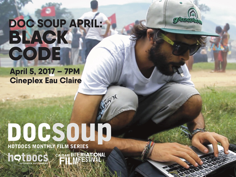 A poster for Doc Soup presents Black Code