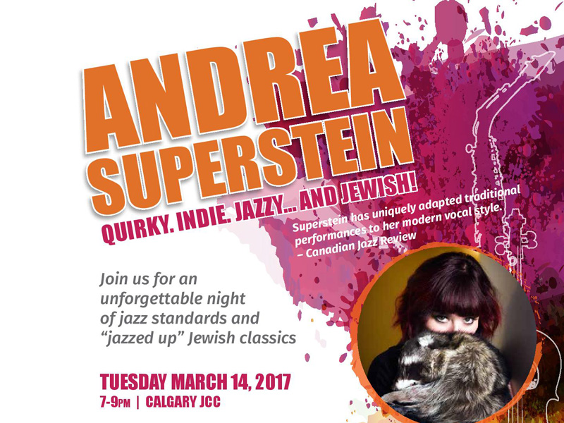 Poster for Jazz Night with Andrea Superstein