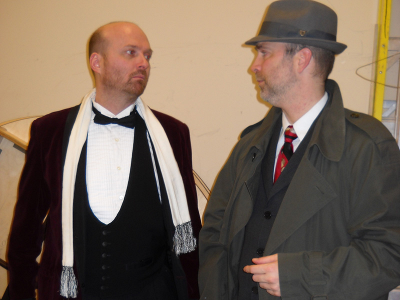 Photo of a man in a tux and a Private Investigator
