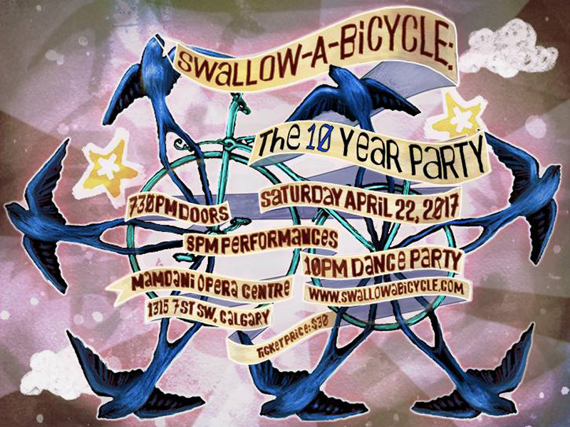 Poster for Swallow-a-Bicycle: The 10 Year Party