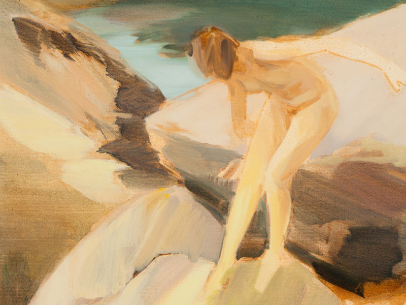 A painting from Corri-Lynn Tetz' Diviners