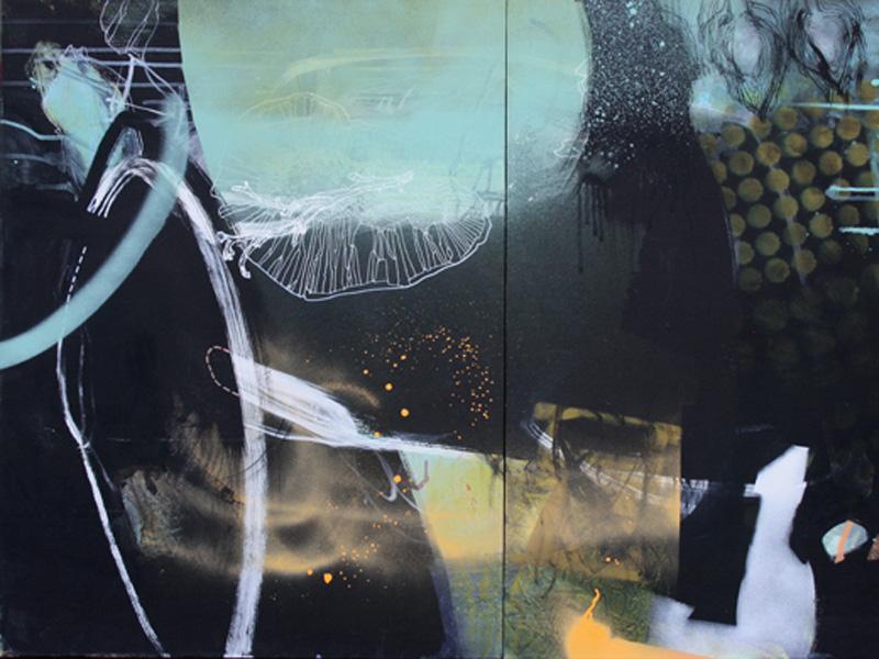 An abstract painting, Nancy Boyd's Wabi Sabi #7