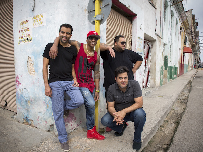 Photo of Pedrito Martinez Group on the streets of Cuba
