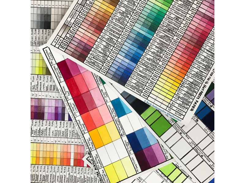 A beautiful photo colour charts