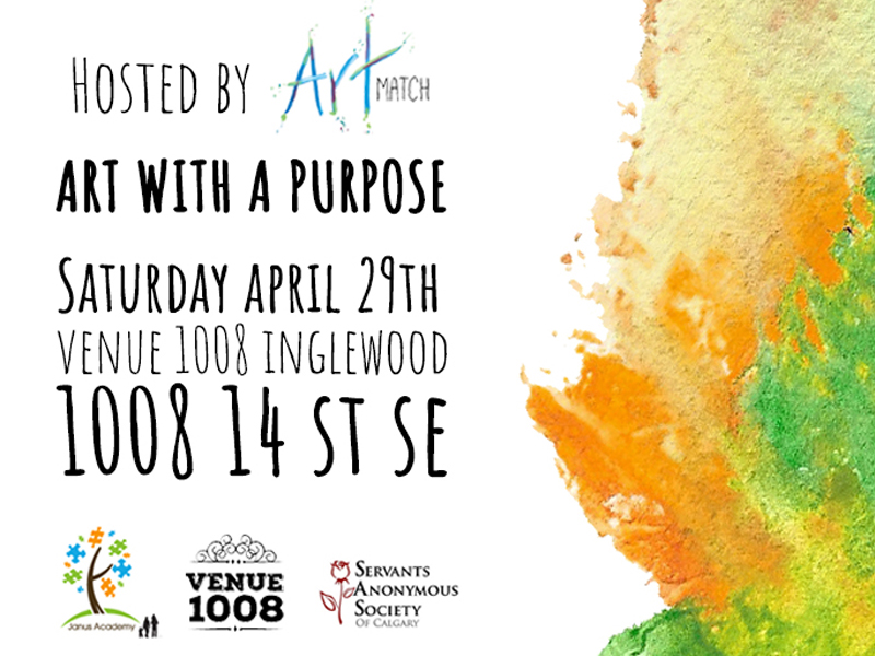 Poster for ArtMatch's Art with a Purpose