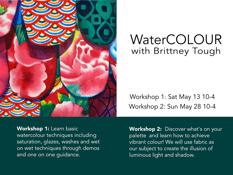Poster for WaterCOLOUR with Brittney Tough Workshop