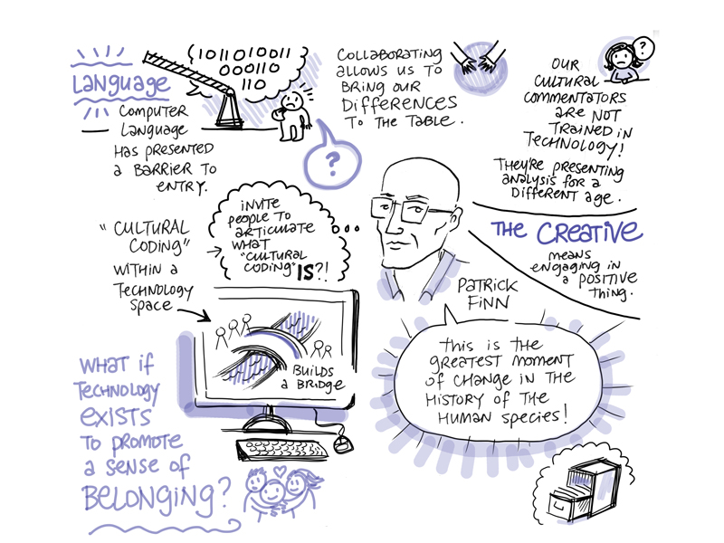 A graphic recording from Sam Hester from the Creative Calgary Congress