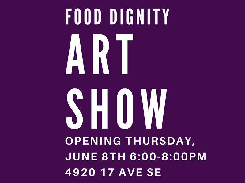 Image text – Food Dignity Art Show