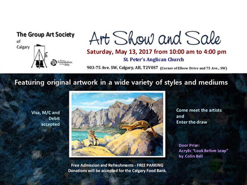 Poster for The Group Art Society of Calgary Spring Show & Sale