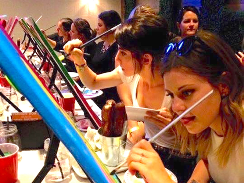 Wine & Paint Night at Lougheed House