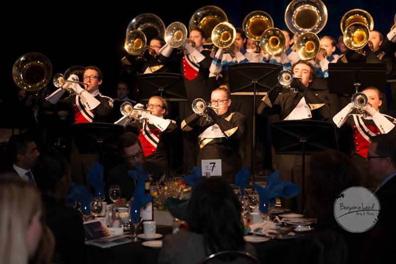 Brass Fanfare at the 2016 Mayor's Lunch for Arts Champions
