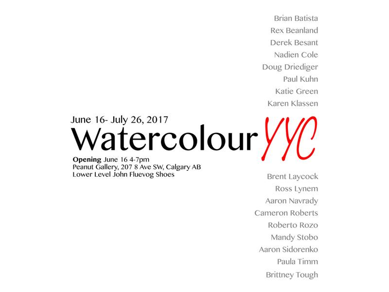 WatercolourYYC Poster