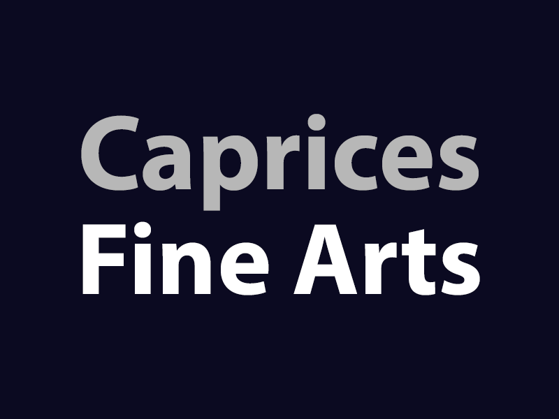 A graphic that says Caprices Fine Arts
