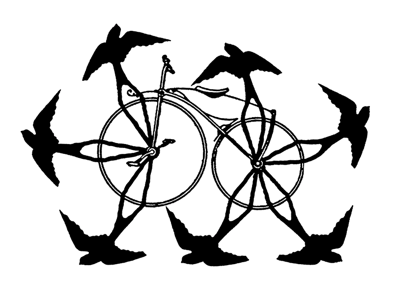 Swallow-a-Bicycle Theatre logo