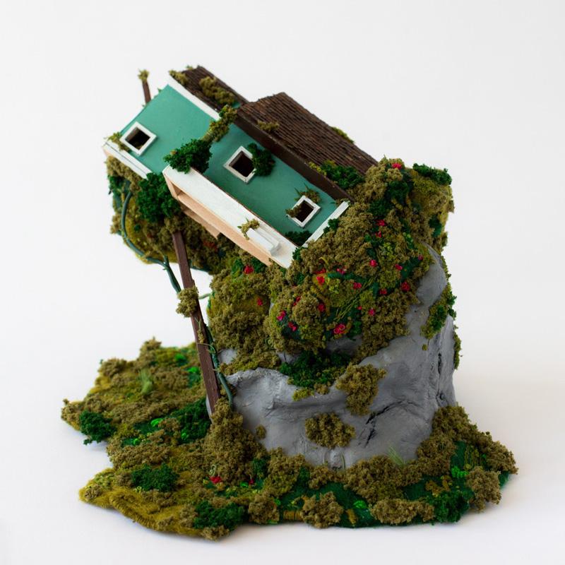 Heather Close's mixed media sculpture, Alpine