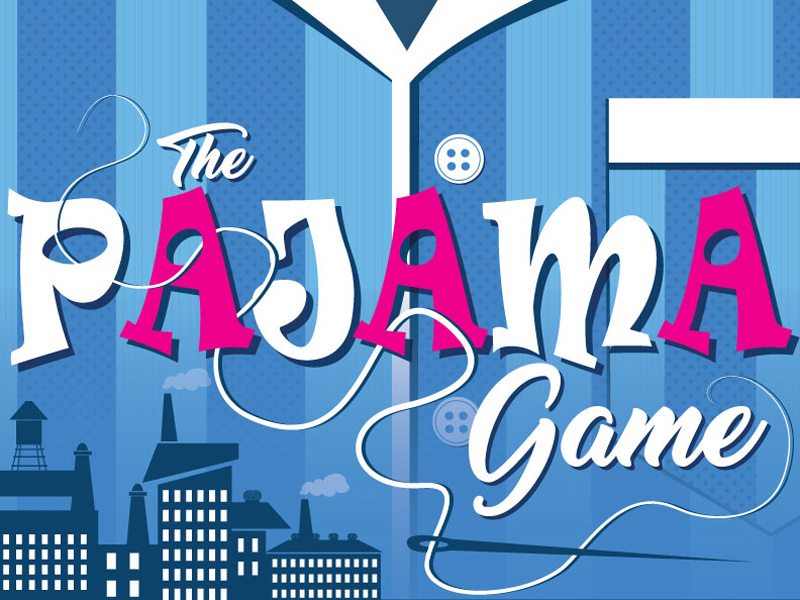 Poster for Front Row Centre's The Pajama Game