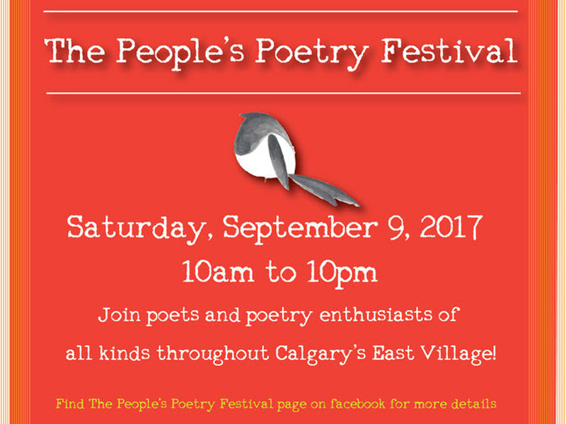 Poster for The People's Poetry Festival