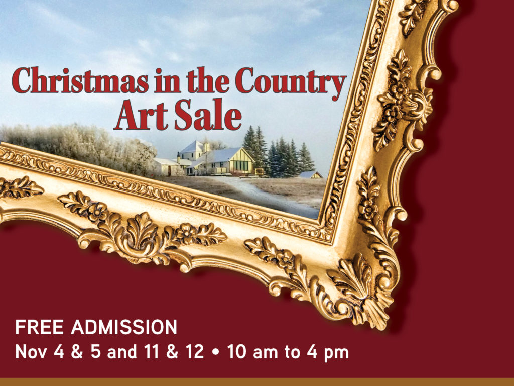 Christmas in the Country Art Sale Poster