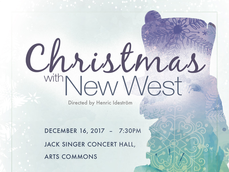 Christmas with New West Poster