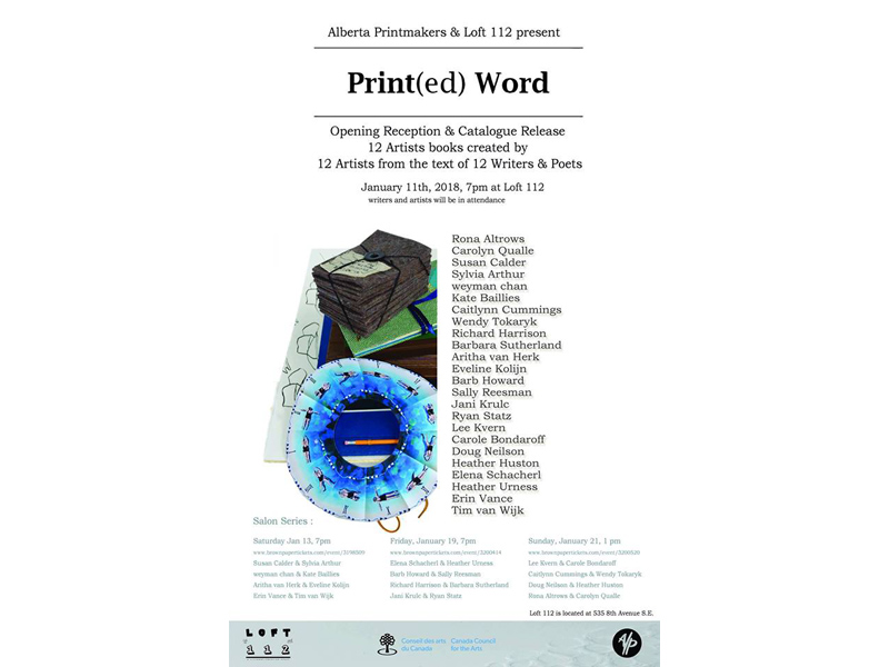 Print(ed) Word Poster