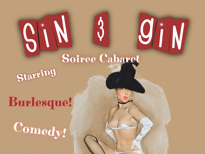 Sin & Gin Soiree Cabaret: Hearts & Spades Poster